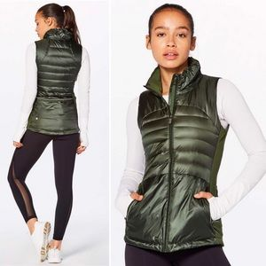 Lululemon Down For A Run Vest II Gator Green 4